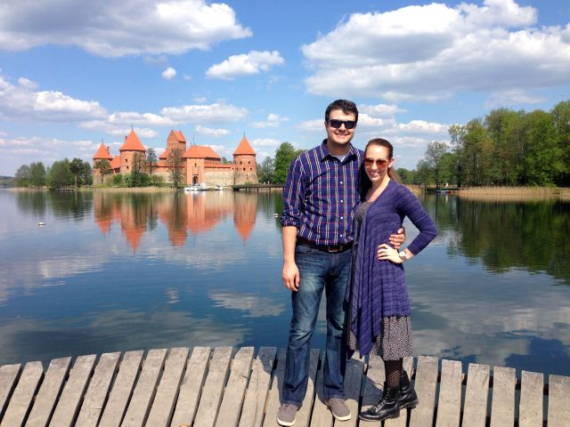 me and matt at trakai castle